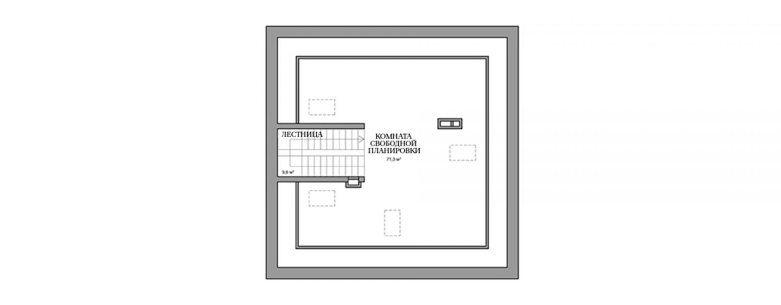 """Планировка мансардного этажа коттеджа """"Анна"""""""