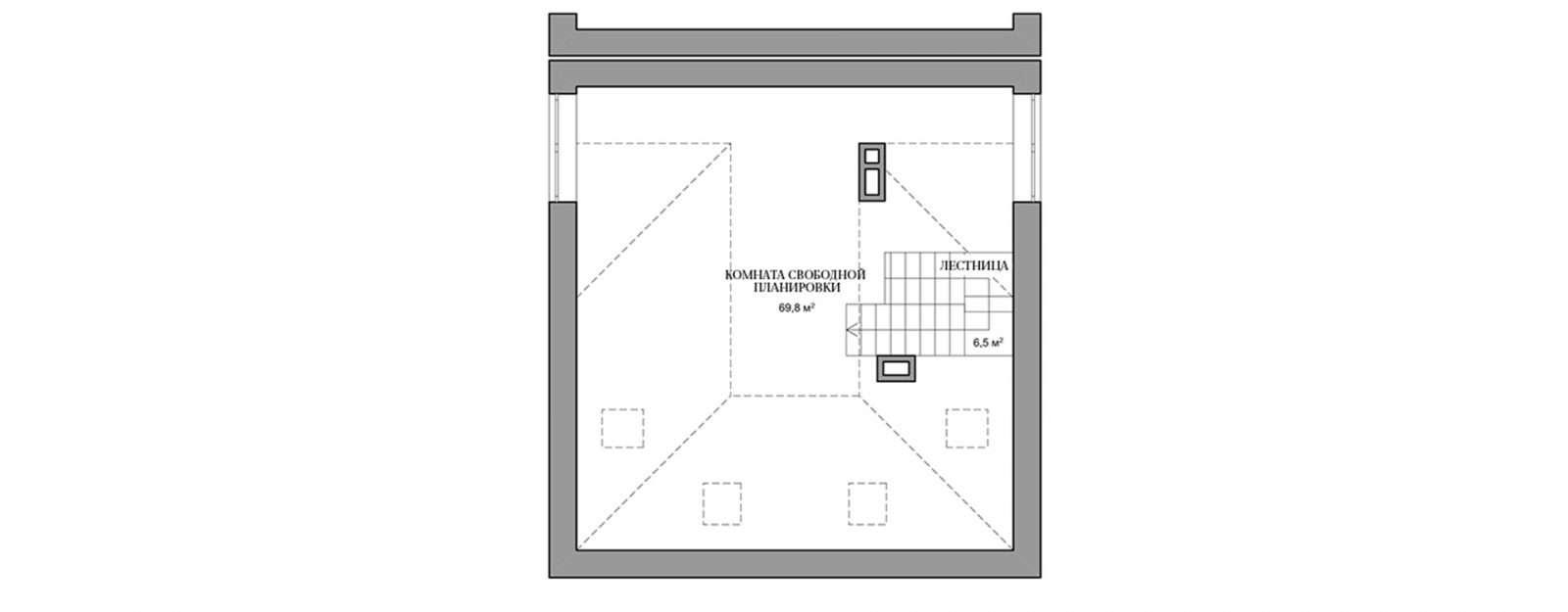 Дуплекс «Глория» - план мансарды