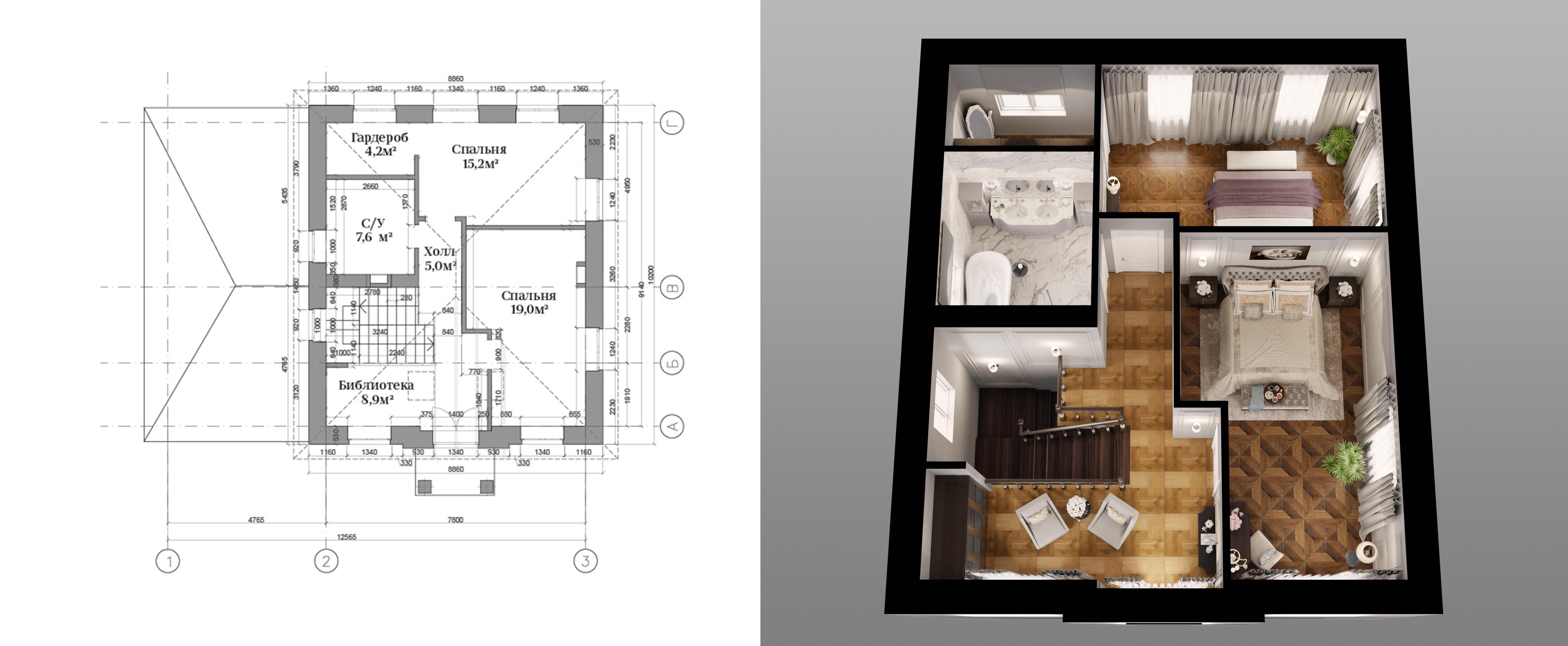 """Планировка в доме """"Джейн"""" 2 этаж"""