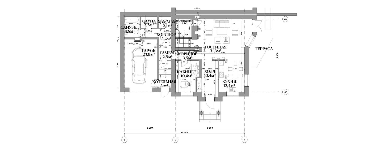 План первого этажа в доме №68