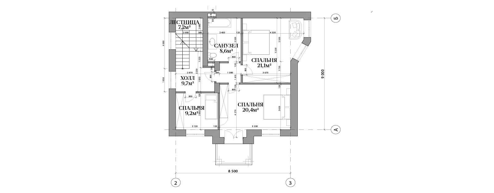 План второго этажа в доме №68