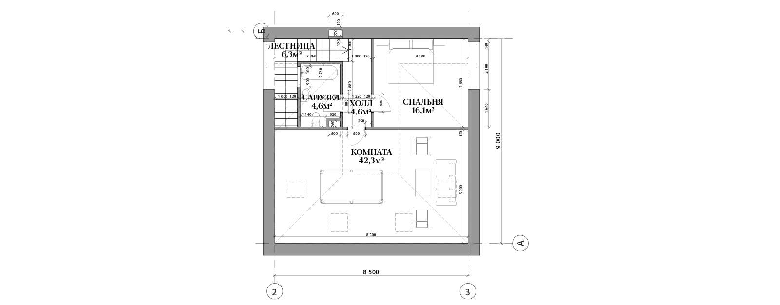 План мансардного этажа в доме №68